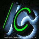 Im Freien Zeichen des Acryl-LED, die Zeichen bekanntmachen