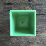 POT di fiore di ceramica Handmade di colore verde per il Succulent
