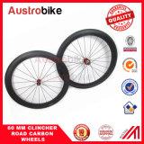 Weave de Wheelset 3k 12k Ud da bicicleta da estrada de Wheelset do carbono do rebitador