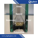 luz de 8mm+16A+8mm - flutuador cinzento vidro isolado