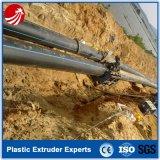 Gaz de HDPE fournissant la ligne solide d'extrusion de pipe