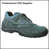 Zapato de seguridad barato del cuero escotado del ante