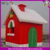 膨脹可能なクリスマスの装飾のためのドアが付いている屋外の巨大なクリスマスの家
