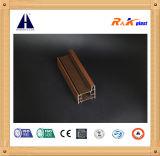 A madeira da cor cheia laminou a faixa plástica de 4 perfis do PVC de Champers