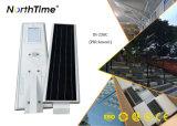 Réverbère solaire actionné solaire de silicium monocristallin avec le détecteur