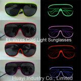 O EL prende óculos de sol da luz fria