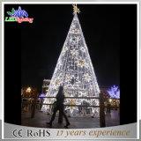 Albero di Natale illuminato artificiale LED del metallo verde gigante esterno di festa