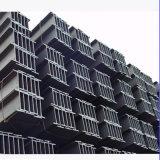 Viga de acero del material de construcción H con el almacén de la fábrica