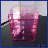 Do espaço livre feito sob encomenda por atacado da cor-de-rosa da vaidade de China caixas acrílicas do cubo