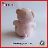 Brinquedo cor-de-rosa do animal de estimação do luxuoso com leopardo Bowtie