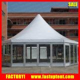 De hexagonale Tent van de Pagode van de Muur van het Glas Gazebo Stevige met Dia 6m, Dia 8m, Dia 10m, Dia 12m