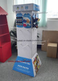 새로운--Hoursehold Products, Recycled Environmental POS Cardboard Display Stand를 위한 Hooks를 가진 4 편들어진 Cardboard Display