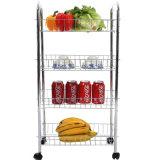Spitzenmetalrollen-Küche-Speicher-Umhüllung-Wagen-Laufkatze (JP-SC984C)
