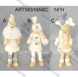 봄 호화스러운 손 자수 2asst.를 가진 다리가 있는 산타클로스 눈사람 크리스마스 선물
