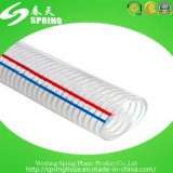 Boyau renforcé transparent de fil d'acier de PVC
