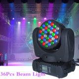 직업적인 LED 전구 36*3W DMX LED 광속 이동하는 맨 위 점화