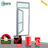 새로운 UPVC 플라스틱 프랑스 여닫이 창 문 유리제 삽입 디자인 가격