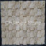 背景の壁のタイルまたは床タイルのための混合されたカラー自然な石造りのモザイク