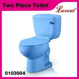 Cabinet d'aisance en deux pièces de courroie de traitement de côté de Siphonic de salle de bains de porcelaine de qualité