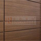 el panel de aluminio de madera 4D para el revestimiento de aluminio de la pared de cortina