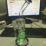 China Top Manufacturer Skull Glass Smoking Pipes, Wholesale LED Lights Glass Waterpipes (glass water pipe)