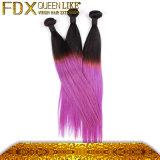 広州の人間の毛髪のブラジルのまっすぐな方法カラー紫色の毛の拡張