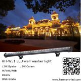 Wasserdichtes IP65 18*1W RGB LED Wall Washer Light Bar