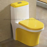 Courroie en céramique d'une seule pièce de toilette de couleur de toilette (A-031)