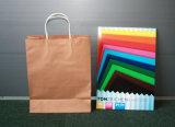 Bolsos del regalo de las compras del papel de Brown Kraft con las manetas de papel Twisted