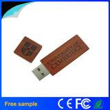 Personalizar a movimentação de madeira do flash do USB da impressão do logotipo