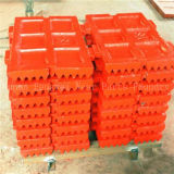 Placa fija y del oscilación de quijada de la trituradora de la fundición profesional del bastidor de China