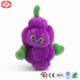 Le héros de cadeau de peluche de fruit badine le jouet mou doucement pourpré de raisin