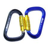 Carabiner 의 Twistlock Carabiner를 잠그는 배 모양
