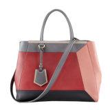 100% echtes Leder-Handtaschen-Frauen-Form-Schulter-Beutel