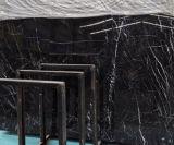 Zwarte Marmeren Zilveren Draak, de Bloem en Nero Marquina van het Ijs