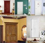 문 문에 박은 자물쇠를 가진 실내 침실을%s 단단한 나무로 되는 문