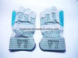 Constructeur industriel de gant de sûreté de cuir de main de constructeur