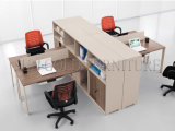 Sitio de trabajo moderno de la oficina 4-Person de Kd con el cabinete de archivo de arriba (SZ-WS617)