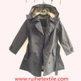 Modo Khaki Woven Trench Coat/Overcoat/Jacket/Hoodie per Women