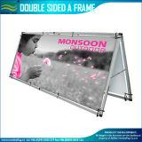 Lato di alluminio portatile di qualità doppio un basamento della bandiera del blocco per grafici