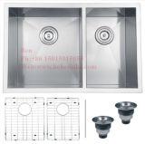 acier inoxydable de pouce 32X17 sous le bassin de cuisine fabriqué à la main de support