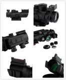 4X32mm Tactical 20mm Rails Fibra Óptica Vermelho / Verde / Azul DOT Sight Scope