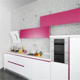 N & l белая высокая мебель кухни лоска с меньшее розовым (kc1070)