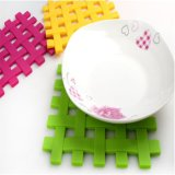 1 Piece Square Knit Inovador novidade Households Silicone Heat Insulation Mat