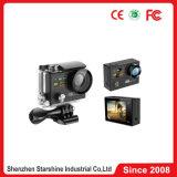 Câmera de 360 esportes da ação do grau H. 264 com 2 vídeos 30m dos frames das telas e dos vídeos 4k HD 1080P 60 impermeáveis