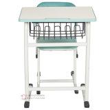 Einfaches Art-Schwarz-weißer einzelner Schule-Schreibtisch und Stuhl (SF-31)