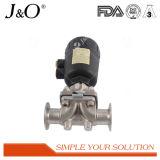 Válvula de diafragma pneumática sanitária do aço 2016 inoxidável