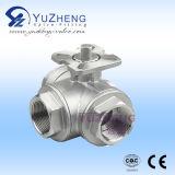 Válvula de esfera de 3 vias Tipo L sem almofada de montagem ISO5211
