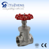 Steel inoxidável Gate Valve 200psi Thread Ending