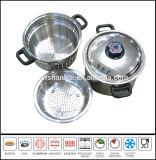 Vaisselle de cuisine réglée du cuiseur 4PCS de pâtes d'acier inoxydable